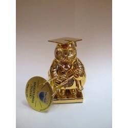 Złota sowa  nauczyciel (figurka)