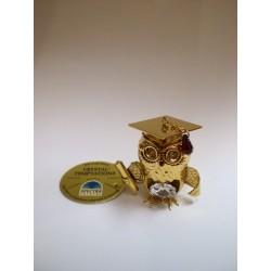 Złota sowa naukowiec (figurka)