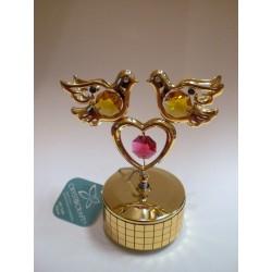 Pozytywka - figurka złote gołębie