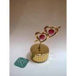 Pozytywka - figurka (dwa serca przebite strzałą Amora)