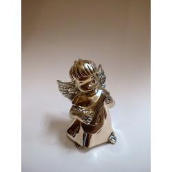 Srebrny Anioł grający na lirze (figurka)