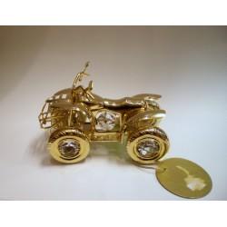 Złota figurka - samochód