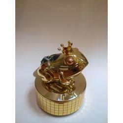 Pozytywka - figurka (złota żaba)