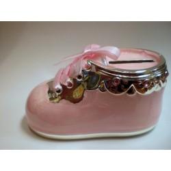 Skarbonka bucik - różowa