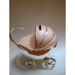 Skarbonka - różowy wózek