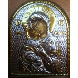 Ikona Matka Boska Nieustającej Pomocy- (pisana, srebro nakładane)