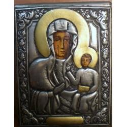 Ikona Matka Boska Częstochowska (metal oksydowany)
