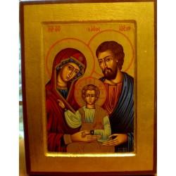 Ikona - Święta Rodzina (23,5 x 19 cm)