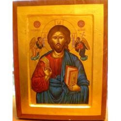 Ikona - Jezus Pantokrator (23,5 x 19 cm)