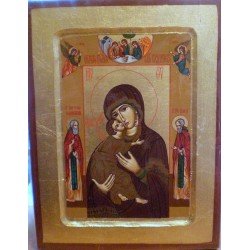 Ikona - Matka Boska Włodzimierska (23,5 x 19 cm)