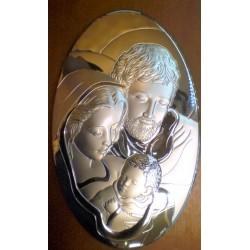 Obrazek srebrny - Święta Rodzina (33 x 20 cm)