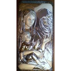 Obrazek srebrny - Maryja z dzieciątkiem (33 x 16,5 cm)