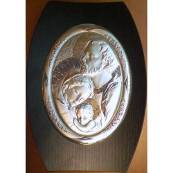 Obrazek srebrny - Święta Rodzina (25,5 x 17 cm)