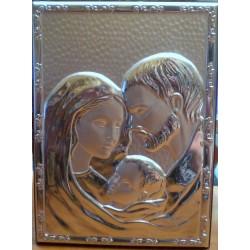 Obrazek srebrny - Święta Rodzina (18,5 x 13,5 cm)