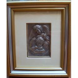 Płaskorzeźba srebrna (obrazek) - Pamiątka Chrztu Świętego (17 x 14,5 cm)