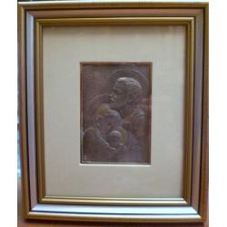 Płaskorzeźba srebrna (obrazek) - Święta Rodzina (20 x 17 cm)