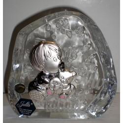 """Przycisk kryształowy ,,W dniu twoich urodzin"""" (10 x 11,5 cm)"""