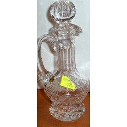 Ampułka dla księdza na wino - kryształowa (18 cm wysokości)