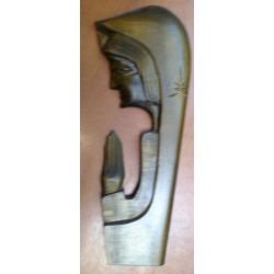 Płaskorzeźba drewniana - Maryja ( 30 x 12 cm)