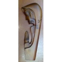 Płaskorzeźba drewniana - Maryja ( 23 x 9 cm)