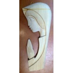 Płaskorzeźba drewniana - Maryja ( 28 x 13 cm)