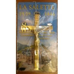 Krzyż salezjański pozłacany (11 x 6 cm)