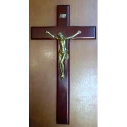 Krzyż drewniany bordowy (31 x 13 cm)