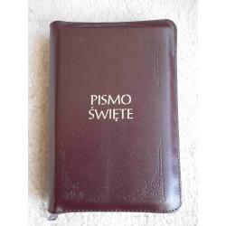 Pismo Święte - Biblia Tysiąclecia, skóra naturalna, zamek