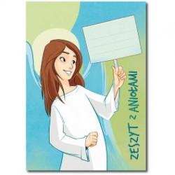 Zeszyt z Aniołami - 32 kartkowy, w kratkę