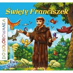Święty Franciszek - kolorowanka