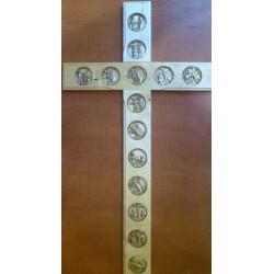 Krzyż ze stacjami Drogi Krzyżowej (42 x 22 cm)