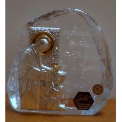Przycisk kryształowy - Pamiątka I Komunii Świętej (11,5 x 11,5 cm)