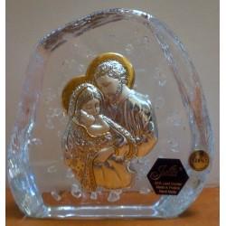 Przycisk kryształowy - Święta Rodzina (11,5 x 11,5 cm)