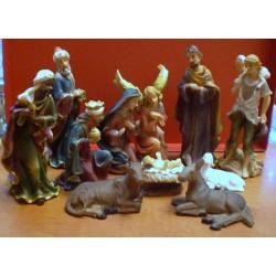 Zestaw figurek do szopki Bożonarodzeniowej (duże figurki)
