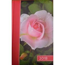 """Kalendarz na rok 2018 - format B6 ,,Róża"""""""