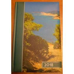 """Kalendarz na rok 2018 - format B6 ,,Zejście do jeziora"""" (Kolorowy)"""