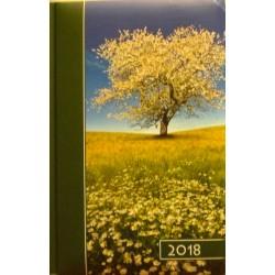 "Kalendarz na rok 2018 - format B6 ,,Kwitnąca flora"" (Kolorowy)"
