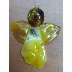 Anioł z bursztynu - do powieszenia (8 cm)