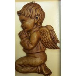 Relief gipsowy - Aniołek chłopiec (17 cm)