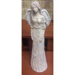 Figurka - Anielica w białej sukni (35 cm wysokości)