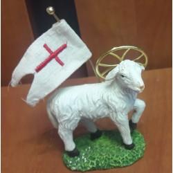 Figurka – Baranek Boży z flagą (7 cm wysokości)